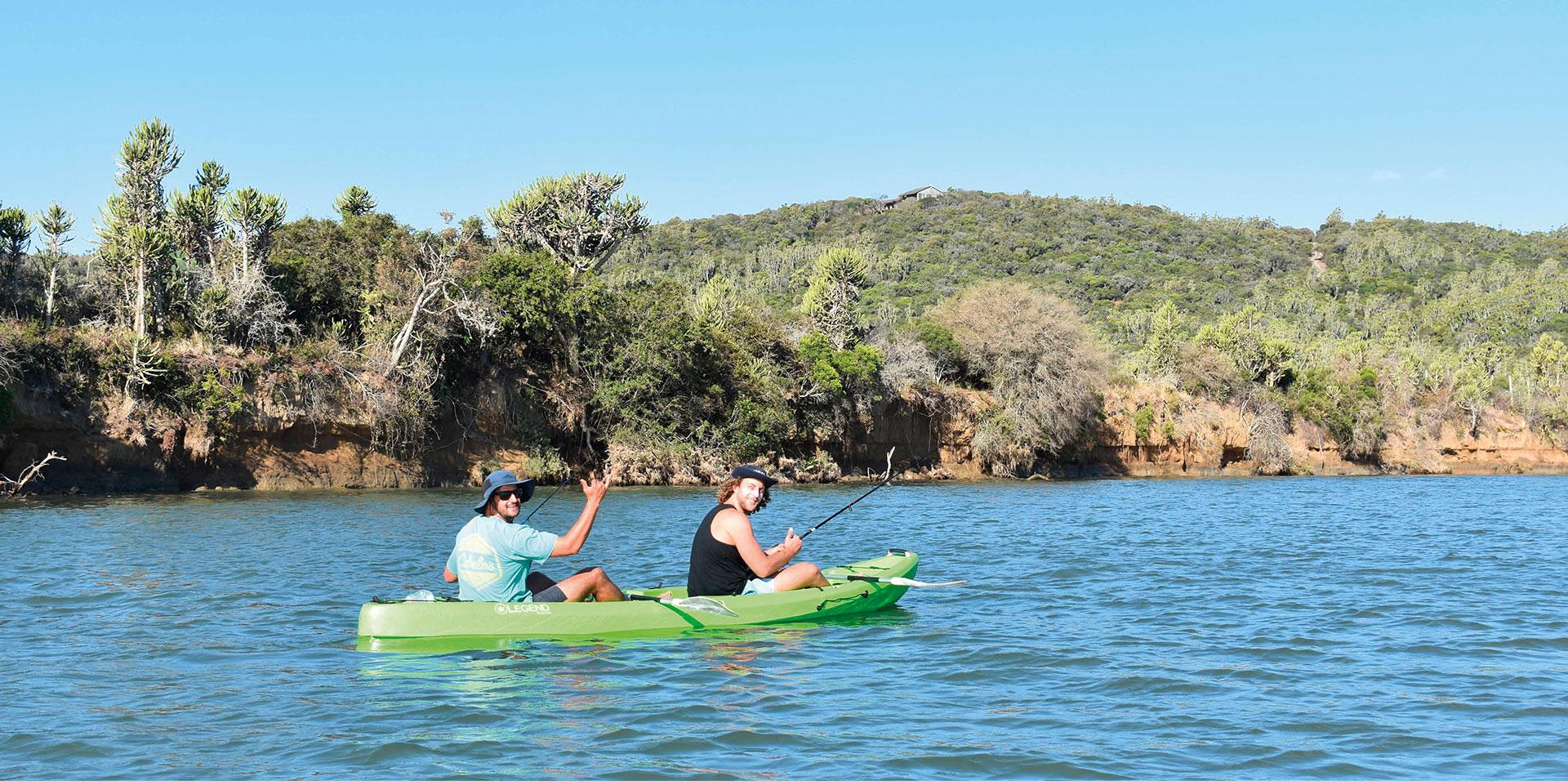 Two men on Kayak